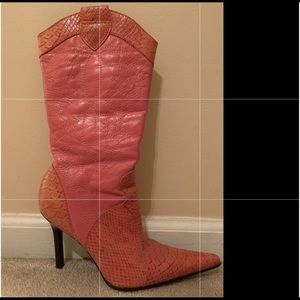 Pink Aldo Cowgirl Boots